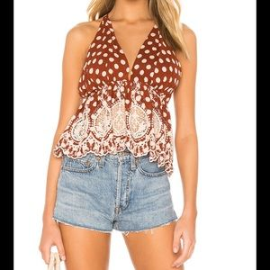 Free People Lunch Date Halter Top Size:M